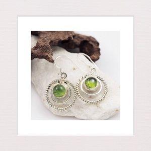 Jewelry - Pretty Peridot and Sterling Silver Earrings